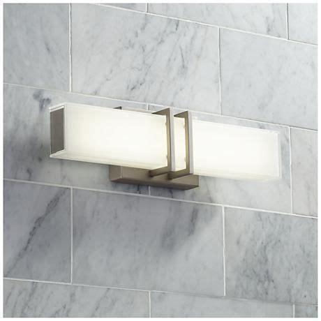 Possini Bathroom Lighting Possini Exeter 17 Quot Wide Led Nickel Bathroom Light Products Bathroom And Led