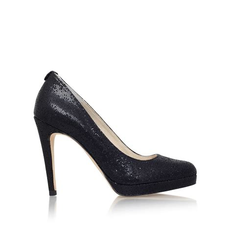 michael kors high heel court shoes in black