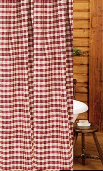 heritage house curtains heritage house check barn red shower curtain 72 quot x 72 quot