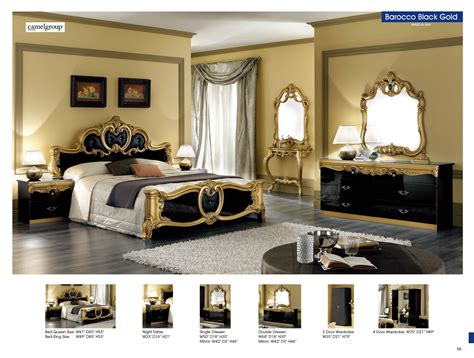 And Bedroom by Barocco Black W Gold Camelgroup Italy Classic Bedrooms