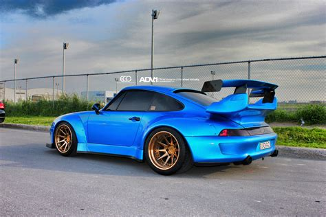 widebody porsche 993 adv1 wheels add class to rwb widebody porsche 993 turbo