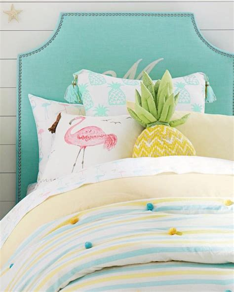 pineapple bedding 29 fun flamingo touches to embrace the summer digsdigs
