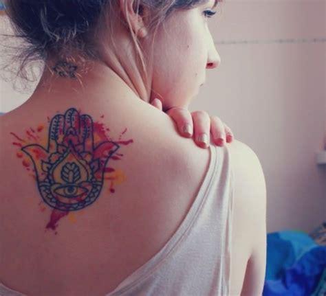visual tattoo creator this spiritual hamsa hand tattoos has creative watercolor