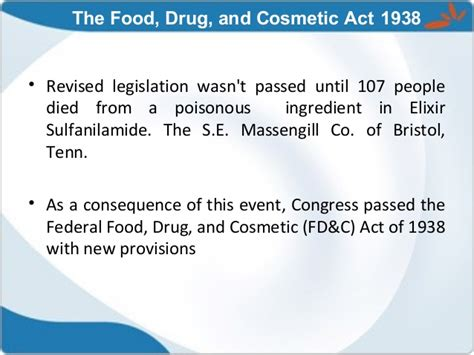 section 201 of the federal food drug and cosmetic act historical aspects of drug approval process