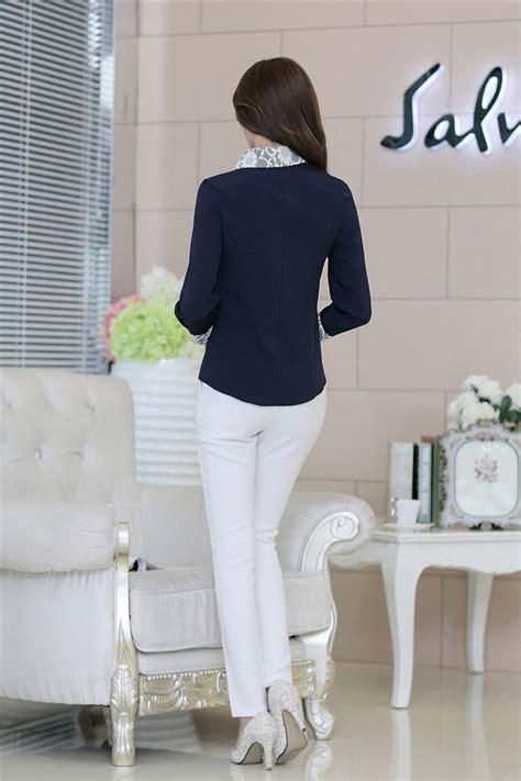 Kemeja Cantik Import kemeja warna navy cantik murah import toko baju wanita
