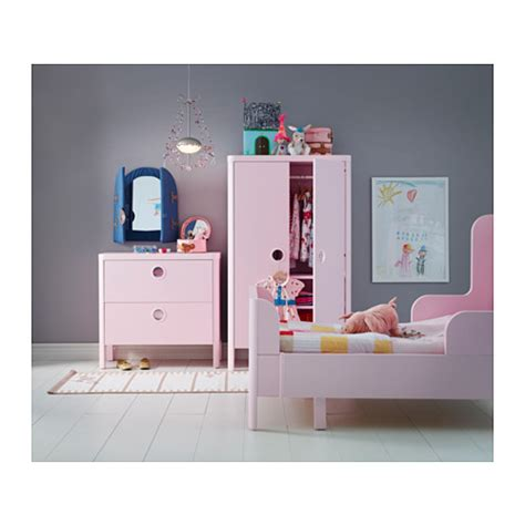 busunge bed hack busunge wardrobe light pink 80x139 cm ikea