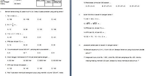 contoh format analisis butir soal sd ktsp download contoh soal uts sd mi kelas vi semester 1 mata
