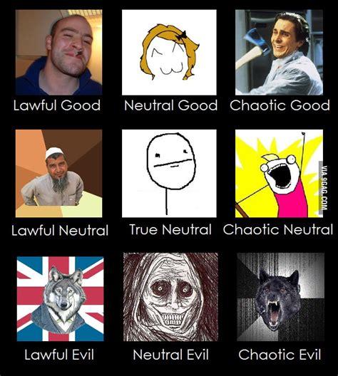 Alignment Meme - meme s alignment chart 9gag