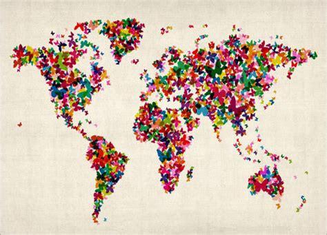 creative remakes   world map hongkiat