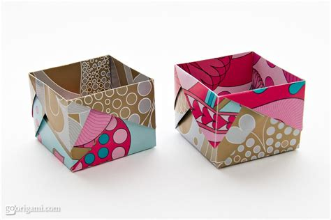 Paper Box - origami boxes by robin glynn and sprung go origami