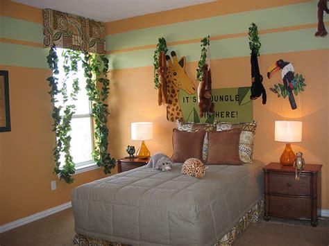 decorate safari themed bedroom interior designing