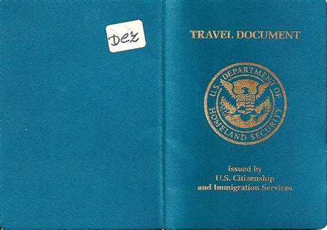 Emergency Travel Document Us u s re entry permit