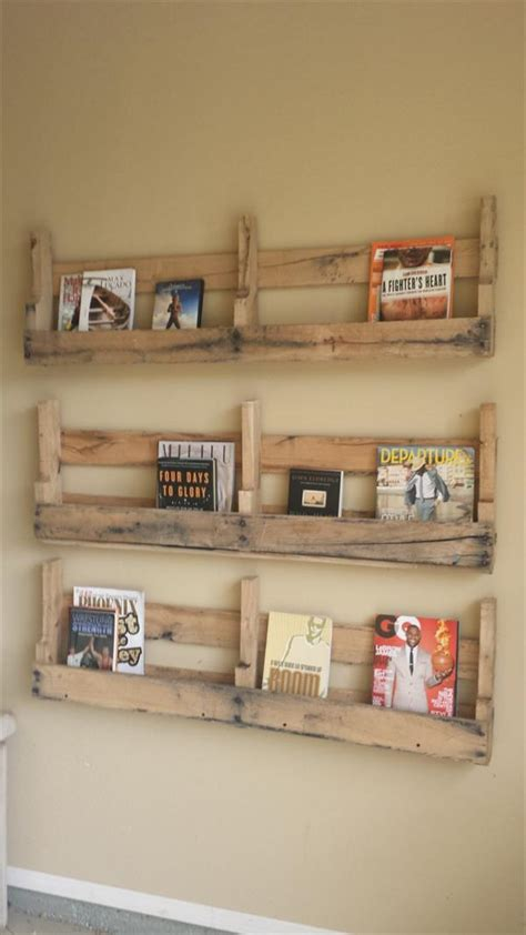 diy pallet bookshelf plans or wooden pallet