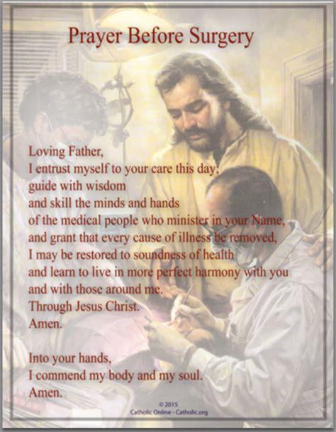 prayer before prayers prayer before surgery catholiconline shopping