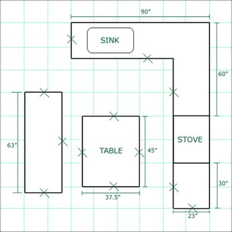 kitchen floor plan dimensions kitchen layouts dimension best home decoration world class