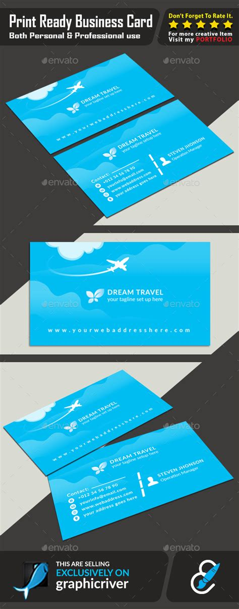 travel business card template wavy designs travel agency business card by graphic forest graphicriver