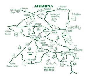 map of arizona mountains white mountains arizona map