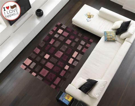 tappeti moderni viola tappeto moderno cuadros nero viola 187 il dei tappeti