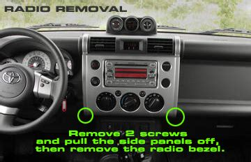 2007 toyota fj cruiser headunit stereo audio radio wiring