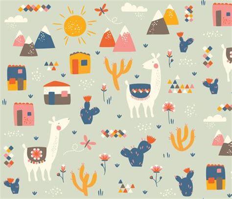 cute llama pattern llamas fabric by petite circus on spoonflower custom