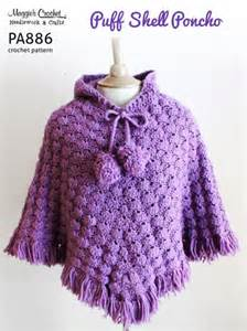 Barnes Noble Printable Coupons Pa886 R Puff Shell Poncho Crochet Pattern By Maggie Weldon