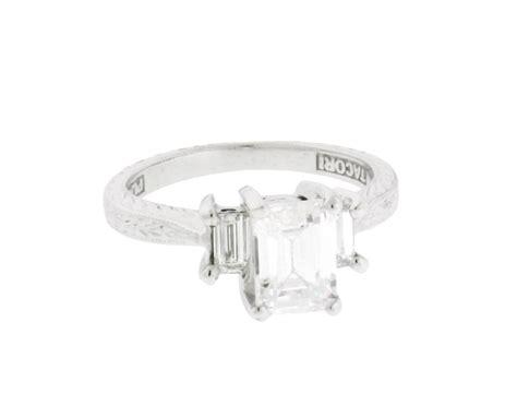 tacori platinum emerald cut engagement ring fits