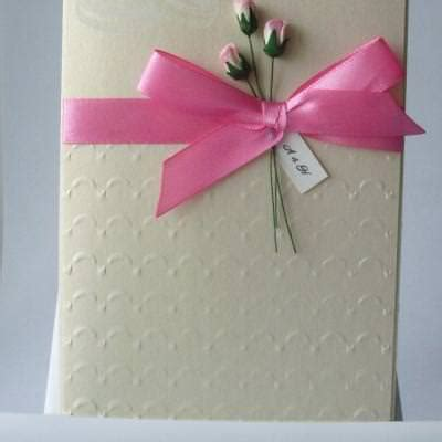 How To Make Handmade Invitation Cards - handmade wedding invitation card idea tip junkie