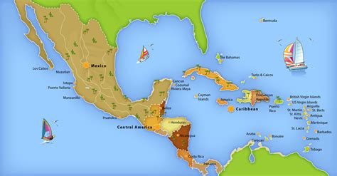 america and caribbean map caribbean overview map
