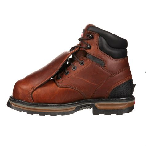 waterproof work boots rocky elements 6 inch steel toe waterproof metguard work