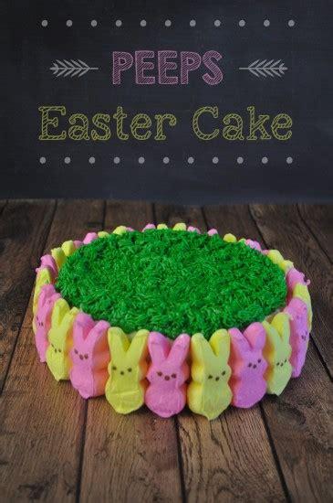 peeps easter cake