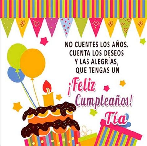 imagenes para cumpleaños tia lindas imagenes de tarjetas de cumplea 241 os para tias