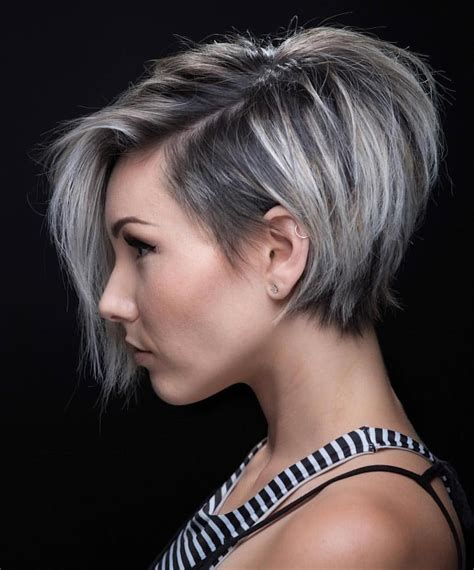 short pixie haircut with med brown and carmel highlights whoa this one might be a game changer short haircut
