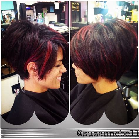 stacked pixie with long bangs short stacked layered bob confidence in a haircut
