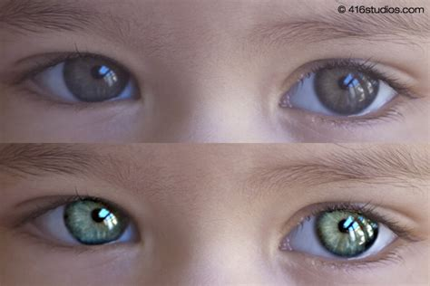 newborn eye color before and after eye sharpening photoshop tutorial 416 studios