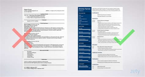 Employment Cv Template by Human Resources Resume Sle Writing Guide 20 Exles