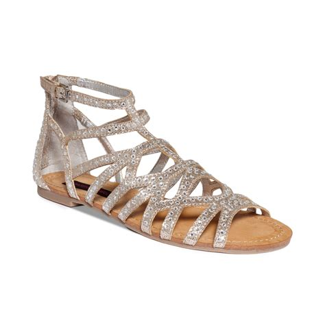 sandals flat material aries gladiator flat sandals in gray lyst