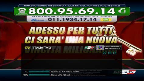 di italia cambi 171228 canale italia mux 1 cambio di numerazione per