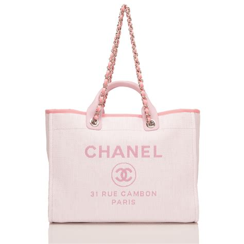 Chanel Deauville Shopping Tote Bags 972 chanel pink canvas large deauville shopping tote world s best