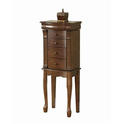 jewelry armoire walnut powell furniture louis philippe walnut jewelry armoire