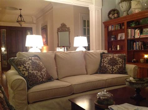 pottery barn cameron sofa pottery barn cameron slip covered sofa for the home