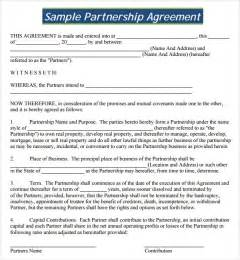 agreement templates business partnership agreement template free 2016