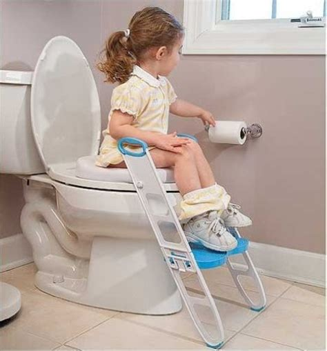 kids bathroom stool potty toilet training pee chair seat paded kids child