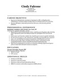 Exle Of An Administrative Assistant Resume by Resume Exles For Administrative Assistant Entry Level Template Design