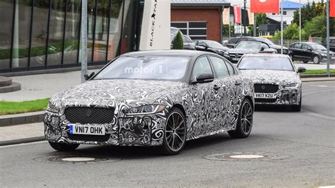 2019 jaguar xe svr jaguar xe svr spotted flaunting exhaust tips
