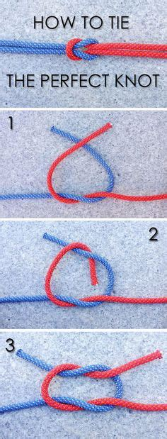 How To Tie A Square Knot Step By Step - 1000 ideas about tying knots on paracord
