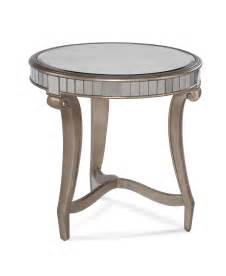 end table real silver leaf antique mirror
