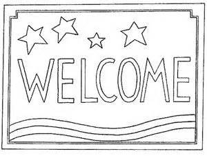 welcome coloring pages for toddlers 1000 images about rug hooking on