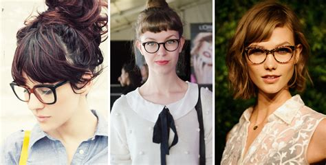 Bangs Hairstyle With Glasses by Hairstyle Ideas For A Small Forehead And Glasses