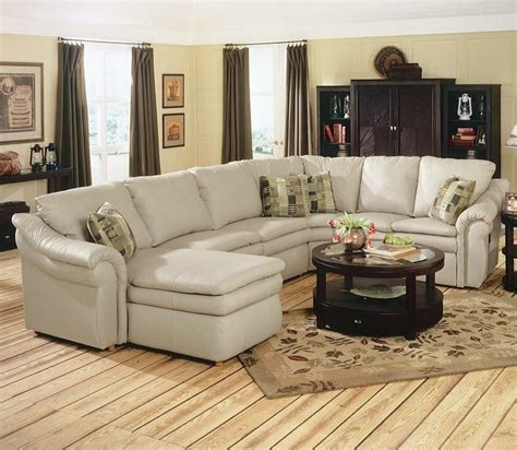 leather sectional with recliner and sleeper devon sectional with sleeper la z boy pinterest