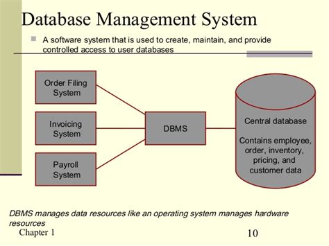 online tutorial database management system chapter 1 the database environment